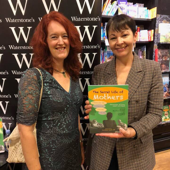 Our book launch, attended by Caroline Lucas